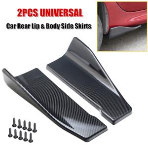 2x35cm Car Side Skirt Rocker Splitter Diffuser Winglet Wing Bumper Rear Lip Trim