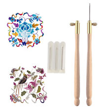 Tambour Hook with 3 Needles 70 90-100 Embroidery Beading Crochet Set Tool Kit