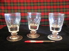 RARE SET OF 3  EARLY 19th CENTURY ANTIQUE RUMMER'S GOOD COLOUR PONTIL MARKS