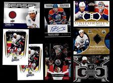 EDMONTON OILERS AUTOGRAPH JERSEY NHL HOCKEY CARD SEE LIST