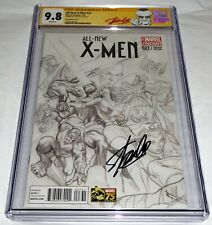 All-New X-Men #27 CGC SS Signature Autograph STAN LEE ROB LIEFELD Marvel Sketch