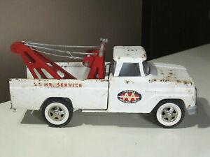 "Vintage Tonka Pressed Steel Metal 24 Hr Service AA Wrecker Tow Truck Toy 14"""