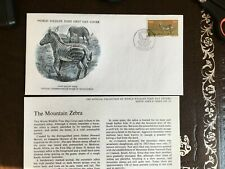 SOUTH AFRICA RSA 1976 FDC WWF MOUNTAIN ZEBRA
