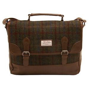 The British Bag Company - Breanais Harris Tweed Briefcase Messenger Bag
