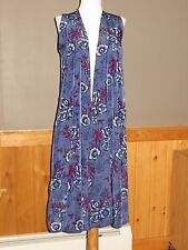 NWT LuLaRoe Joy Vest Light weight NOT STRETCHY Stunning Blue Purple Floral SMALL