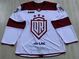 KHL Dinamo Dynamo Riga Game Worn Latvia Latvija Ice Hockey Jersey #47 MURRAY