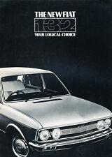 1974 1975 Fiat 132 Launch Intro Original Car Sales Brochure Catalog