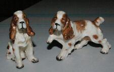 Vintage Porcelain Ucago Cocker Spaniel Dog Salt & Pepper S&P shakers