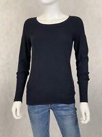 Express women's navy blue long sleeve shirt size Medium M