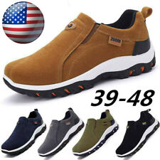 Men's Outdoor Hiking Running Shoes Breathable Antiskid Loafers Slip on Sneakers