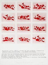 Dennis Oppenheim: Untitled, 1977. Set of three Signed, Dated, Silkscreen Prints