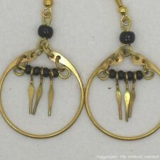 Maasai Market African Kenya Jewelry Brass Masai Beads Earrings 630-20