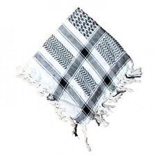 Kefia foulard bianco e nero 100% cotone cm 106x106 circa