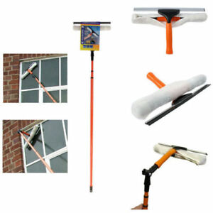 3.5M TELESCOPIC CONSERVATORY WINDOW GLASS CLEANING CLEANER KIT WITH SQUEEGEE