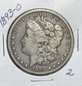 1893-O MORGAN SILVER DOLLAR, F DETAILS