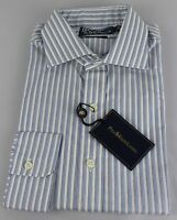 Polo Ralph Lauren Dress Shirt Mens 15 38 Regent Fit White Blue Gray