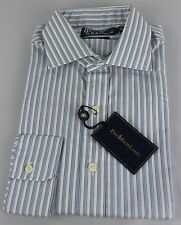 Polo Ralph Lauren Dress Shirt Mens 15.5 39 Regent Fit White Blue Gray