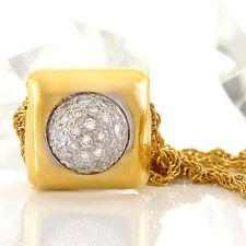 Halsketten und Anhänger im Collier-Stil aus Gelbgold mit VVS Reinheit