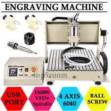 Desktop 4 Axis 6040 CNC Router Engraver Engraving Machine Carving Cutter 1500w