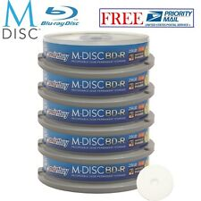 50 Pack Smartbuy M-Disc BD-R 25GB 4X HD White Inkjet Printable Recordable Disc