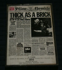 """JETHRO TULL """"THICK AS A BRICK"""" 1ST PRESS 1972 RARE PAPER LABELS OUT OF PRINT HTF"""