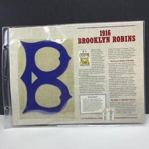 Willabee Ward anniversary patch badge emblem MLB 1916 Brooklyn Robins babe ruth