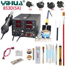 YIHUA 853D 5A 3 In 1 BGA Rework Soldering Station Solder Hot Air Gun Iron tool