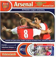 Arsenal 2003-04 Tottenham (Ljungberg & Pires) Football Stamp Victory Card #311