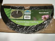 Plow & Hearth Permanent Mulch Recycled Rubber Tree Ring, 24 x 34 dia.