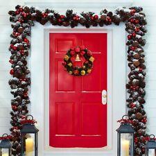 Christmas Wreath Garland Hanging Decor Xmas Party Door Garland Ornaments