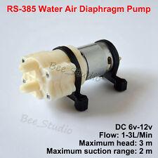 Dc 6v12v Small Rs 385 Water Air Pump Diaphragm Pump Mini Fish Tank Aquarium Diy