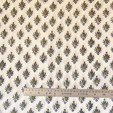 5 yards Cotton Fabric Indian Hand Block Print Fabric Sanganeri Printed Fabric