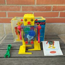 VERY RARE 60'S LEMSSA SPACE WIND-UP SEE THRU ROBOT SPANISH VERSION OF JAPAN TOMY