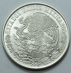 1979 UNC MEXICO CIEN 100 PESOS PLATA PURA LEY .720 SILVER Large COIN, No Reserve