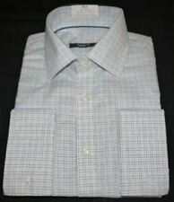 Checked Double Cuff Formal Shirts for Men with Non Iron