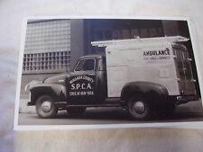 1948 CHEVROLET SPCA ANIMAL AMBULANCE NIAGARA COUNTY  NY 11 X 17  PHOTO   PICTURE