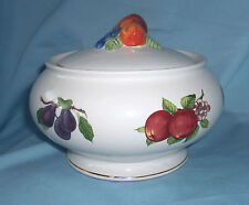 Teleflora  2-pc decorative Bowl and Lid Colorful Fruit Design Nice Home Decor