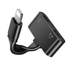 Lightning Dual Splitter Adapter Headphone & Charger iPhone 11 Pro 7 8 + X XR XS