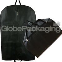 PREMIUM BLACK SUIT GARMENT CLOTHES TRAVEL COVER WITH HEAVY DUTY ZIPS AND HANDLES