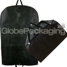 100 X Premium Luxury Black Suit Garment Clothes Travel Covers With Handles