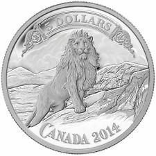 Canada 2014 $5 Bank Note Series: Lion on the Mountain Pure Silver Coin COA Box
