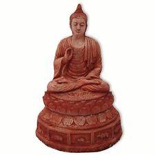 Statue, décoration jardin, petit Bouddha assis, importé de Thaïlande (10410)