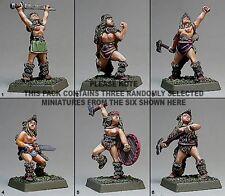 Shadowforge miniatures valkyrie berserkers x 3 chiffres
