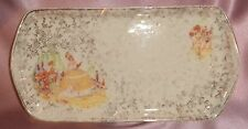 Estate Collectable Old Empire Ware Crinoline Lady Oblong Dish ~ Vintage England