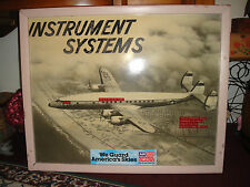 Vintage USAF C-121 Military Plane Large Picture-Instrument Systems Display Piece