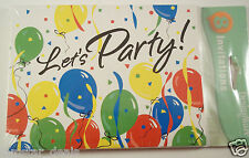 DesignWare LET'S PARTY Invitations 8 Pack Child or Adult Any Occasion Invite