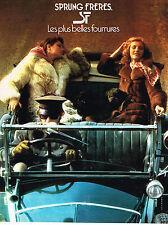 PUBLICITE  1976   SPRUNG FRERES  boutique fourrure