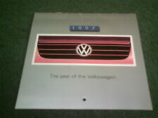JANUARY to JUNE 1997 VW UK CALENDAR - Golf Polo Beetle Passat Cabriolet BROCHURE