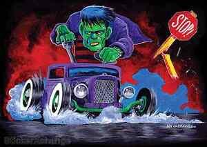 Hotrod Monster Sticker Decal Ben Von Strawn BV27 Frankenstein