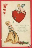 VALENTINE TO MY SWEETHEART POLLAK 1922  POSTCARD